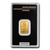5 gram Gold Bar - Argor-Heraeus