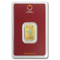 5 gram Gold Bar - Austrian Mint KineBar Design (In Assay)