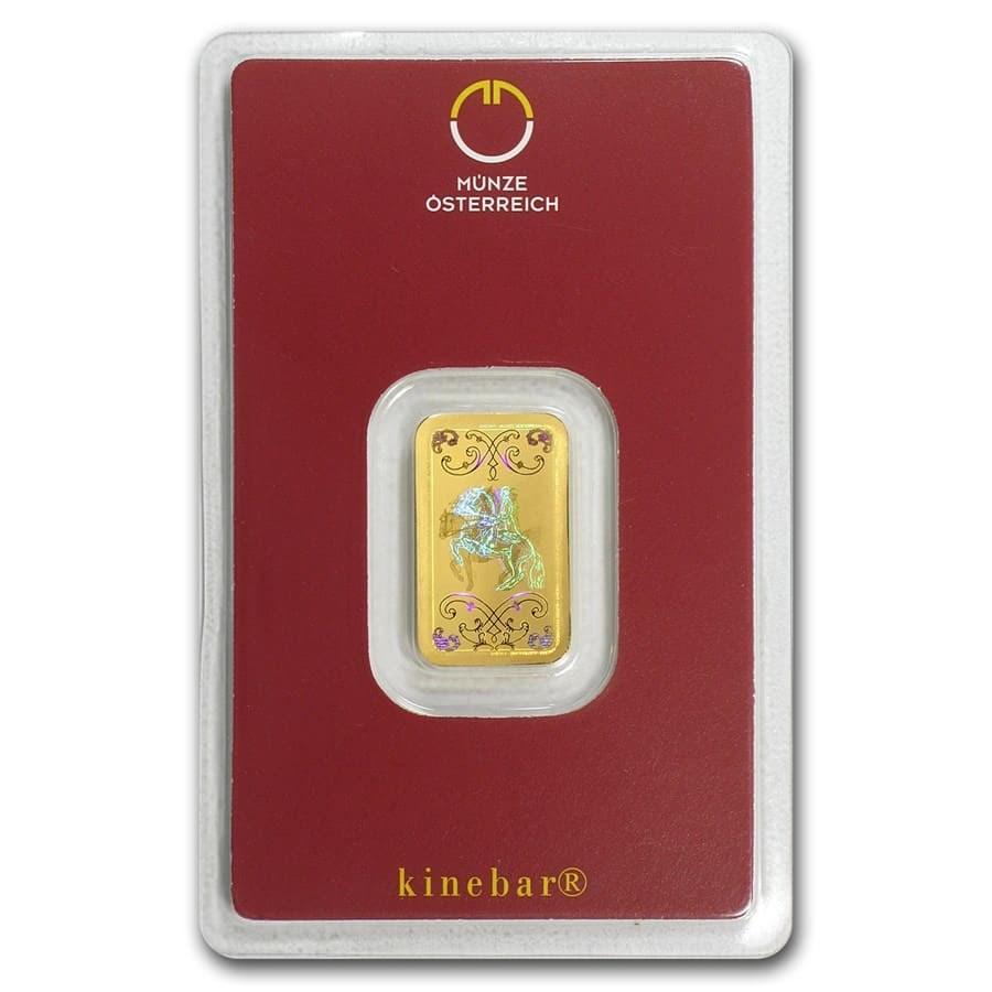 5 gram Gold Bar - Austrian Mint KineBar Design (In Assay)