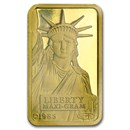 5 gram Gold Bar - Credit Suisse Statue of Liberty (Classic Assay)