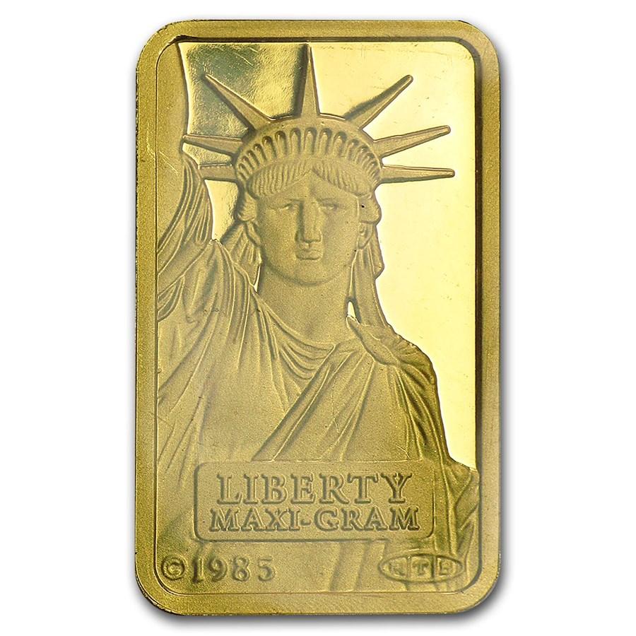 5 gram Gold Bar - Credit Suisse Statue of Liberty (Classic Assay)