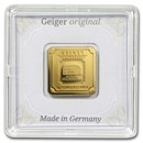 5 gram Gold Bar - Geiger Edelmetalle (Encapsulated w/Assay)
