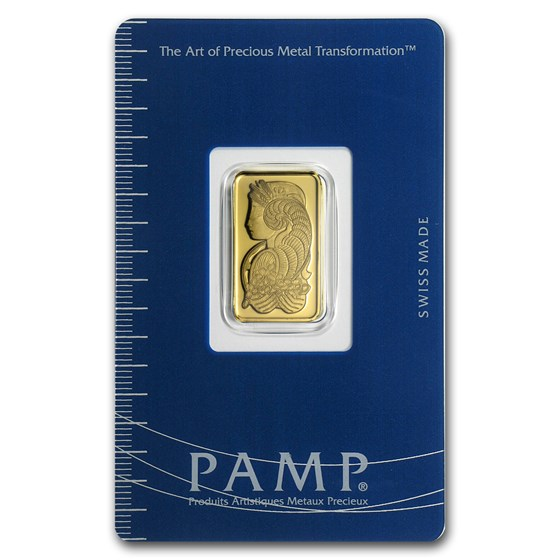 5 gram Gold Bar - PAMP Suisse Lady Fortuna (In Assay)