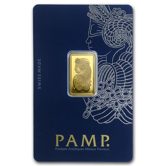 5 gram Gold Bar - PAMP Suisse Lady Fortuna Veriscan® (In Assay)
