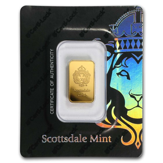 5 gram Gold Bar - Scottsdale Mint (In Certi-Lock® Assay, Black)