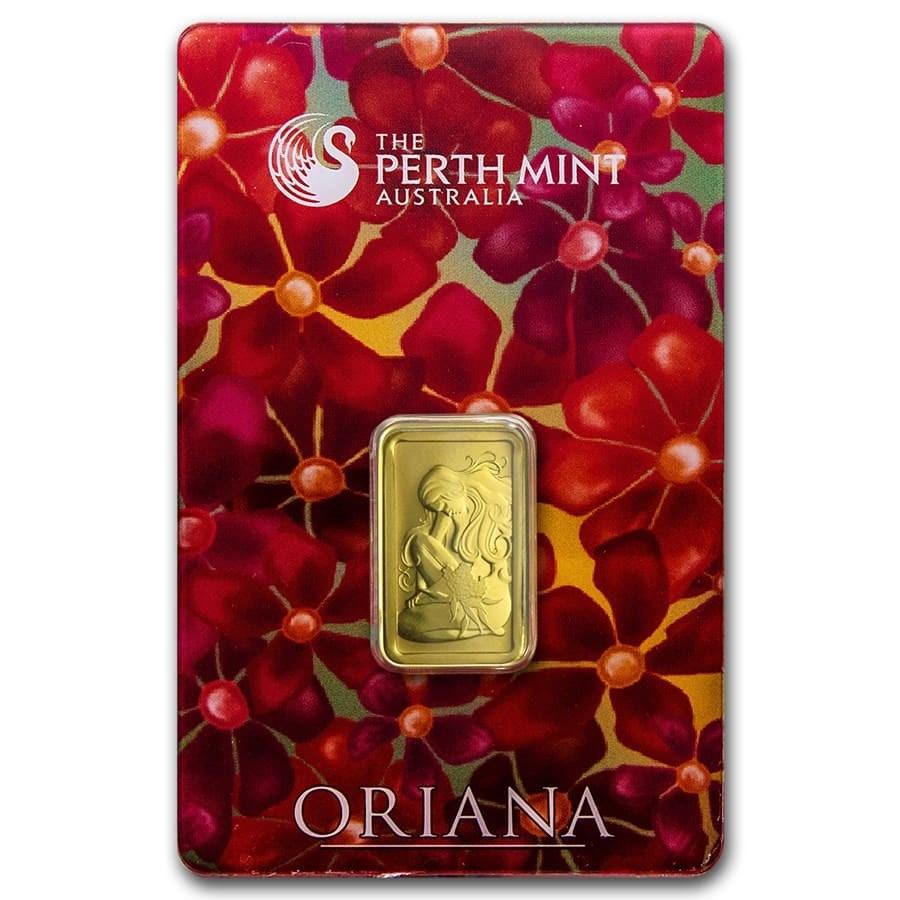 5 gram Gold Bar - The Perth Mint Oriana Design (In Assay)