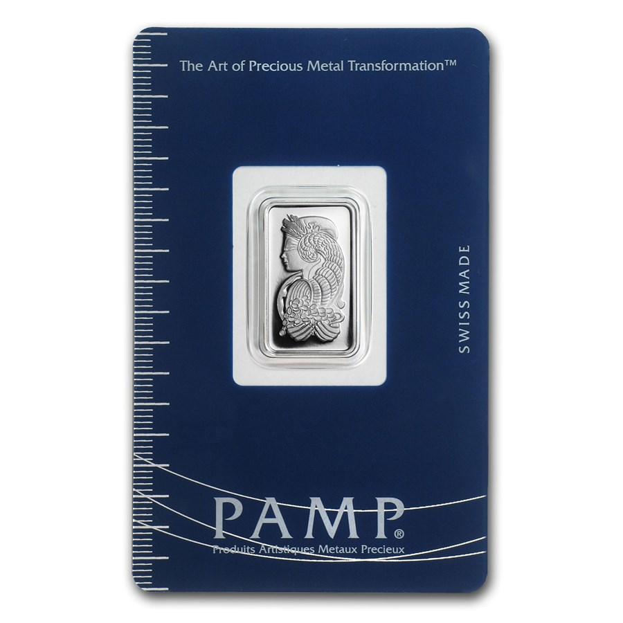5 gram Silver Bar - PAMP Suisse (Fortuna, In Assay)