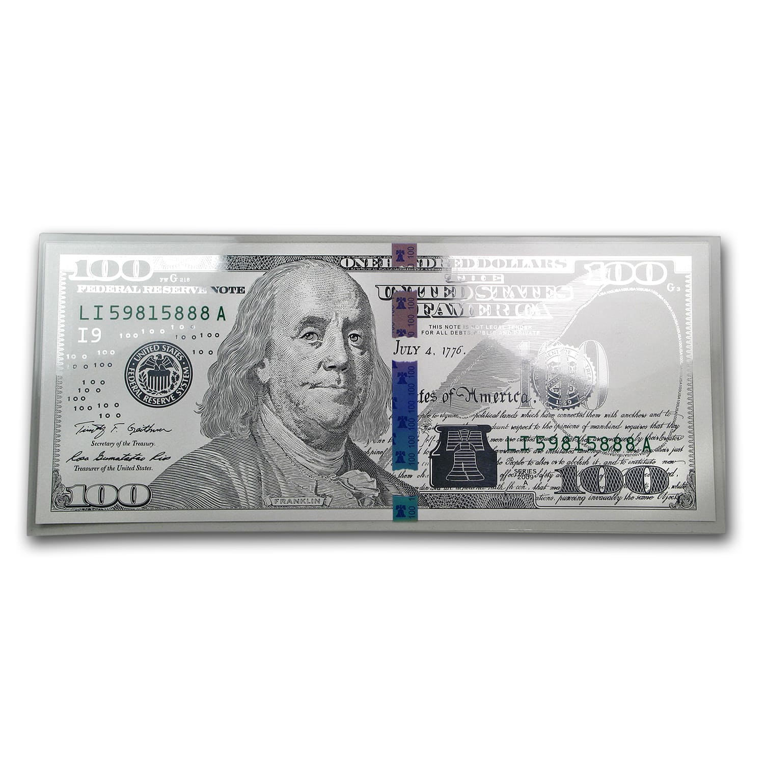 """100 One Hundred Dollars Benjamins USA Money Currency 6/""""x12/"""" License Plate Sign"""