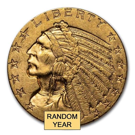 $5 Indian Gold Half Eagle BU (Random Year)