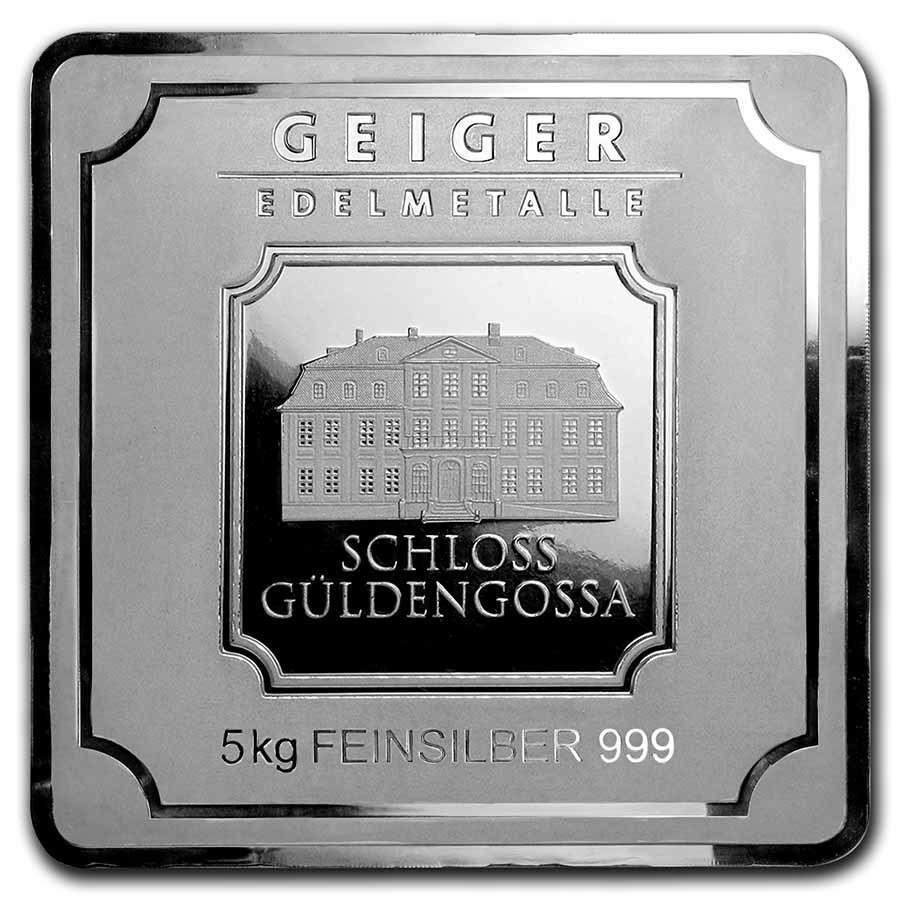 5 Kilo Silver Bar - Geiger Edelmetalle (Original Square Series)