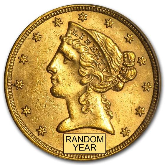 $5 Liberty Gold Half Eagle BU (Random Year)