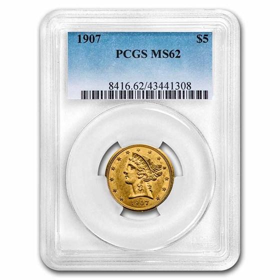 $5 Liberty Gold Half Eagle MS-62 PCGS