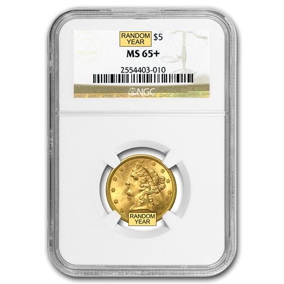 $5 Liberty Gold Half Eagle MS-65+ NGC