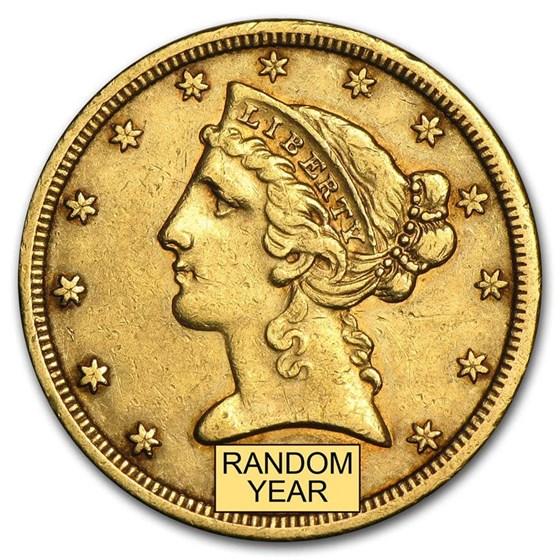 $5 Liberty Gold Half Eagle XF (Random Year)