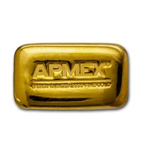 5 oz Cast-Poured Gold Bar - APMEX