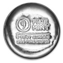 5 oz Cast-Poured Silver Round - 9Fine Mint