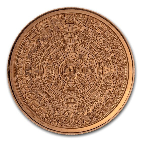 5 oz Copper Round - Aztec Calendar