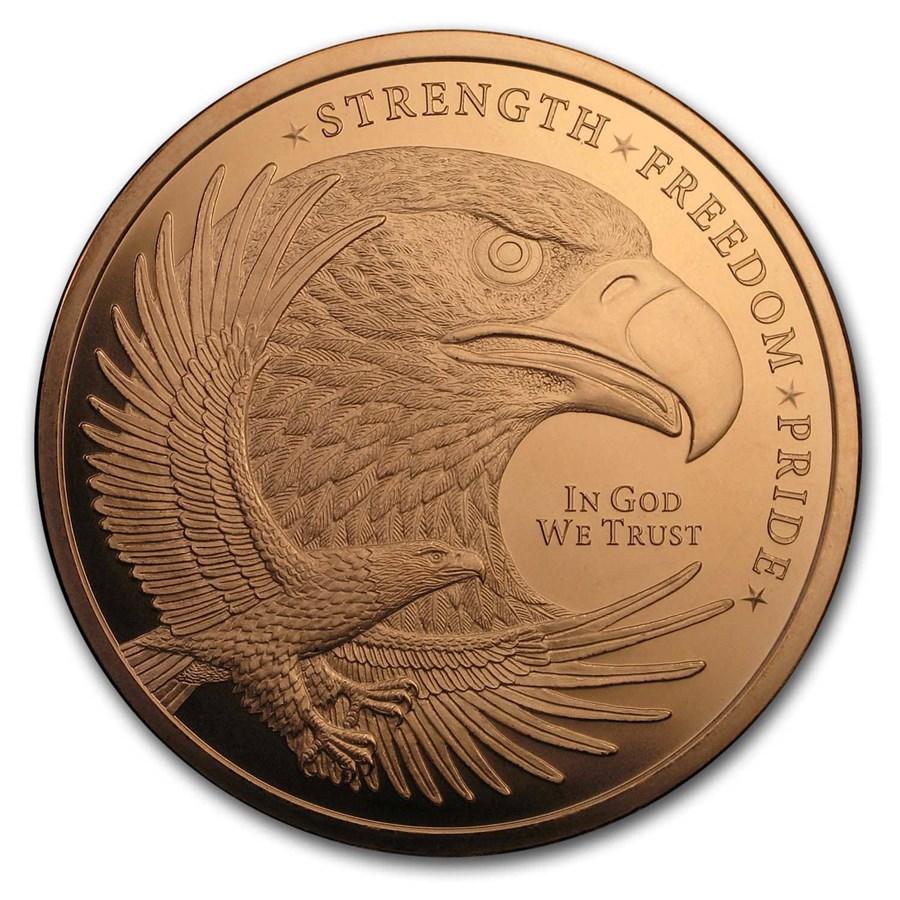5 oz Copper Round - Eagle (Strength, Freedom, & Pride)