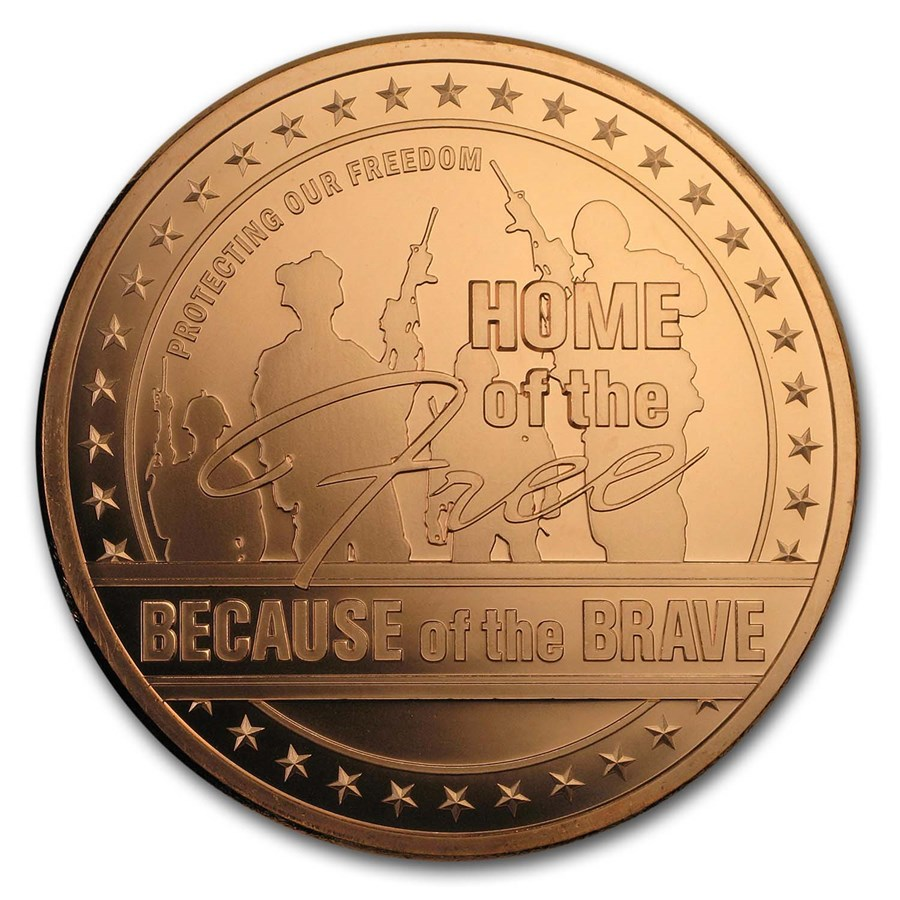 5 oz Copper Round - Home of the Free