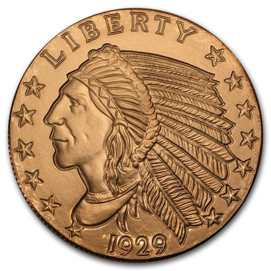 5 oz Copper Round - Incuse Indian