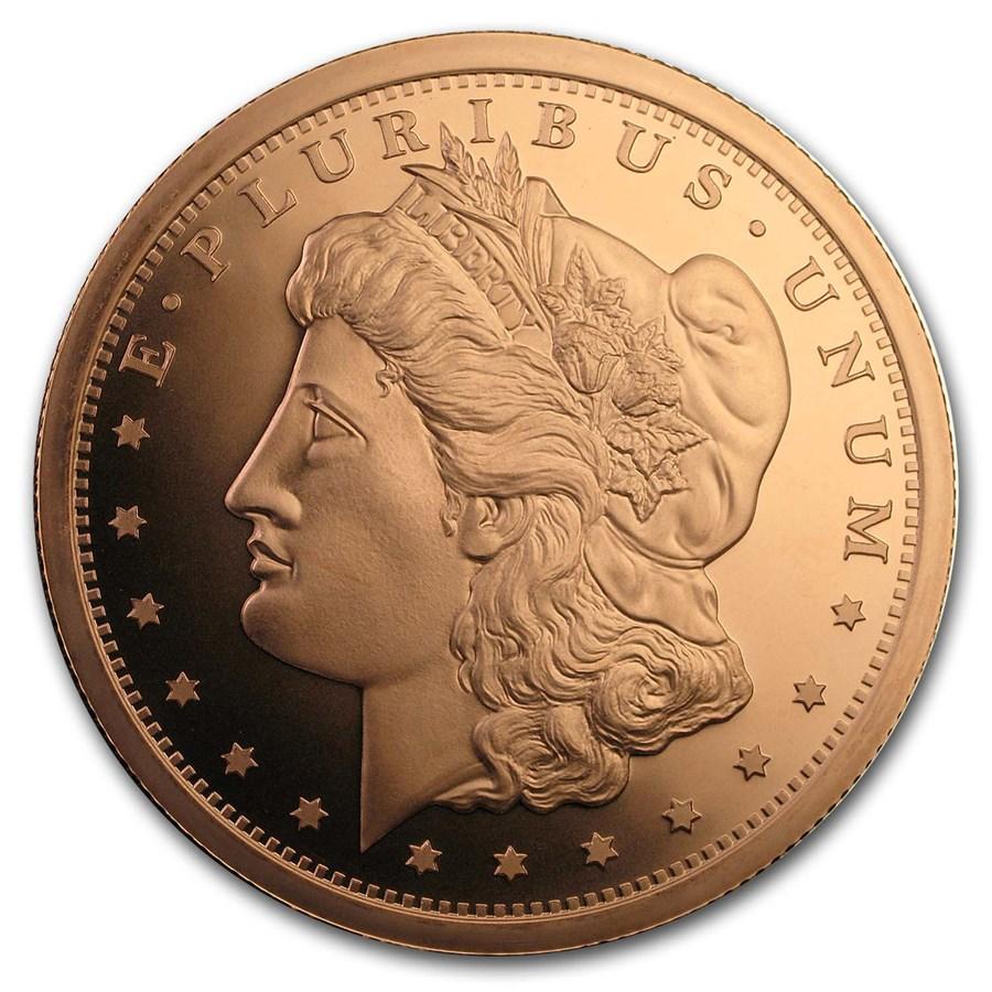 5 oz Copper Round - Morgan Dollar