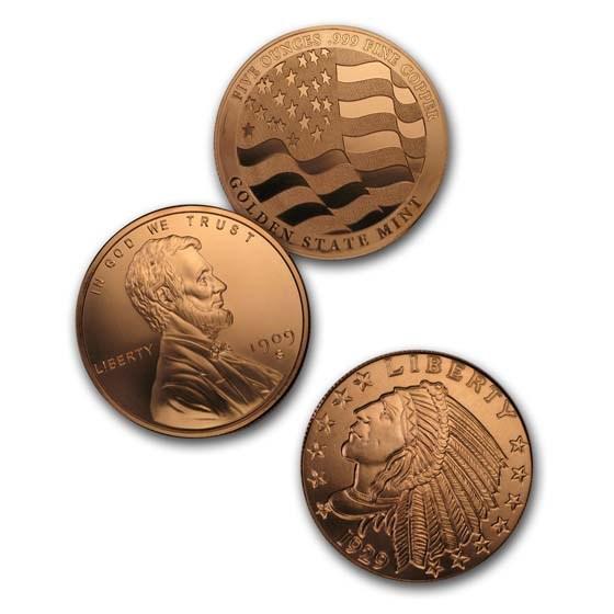 5 oz Copper Round - Random Design