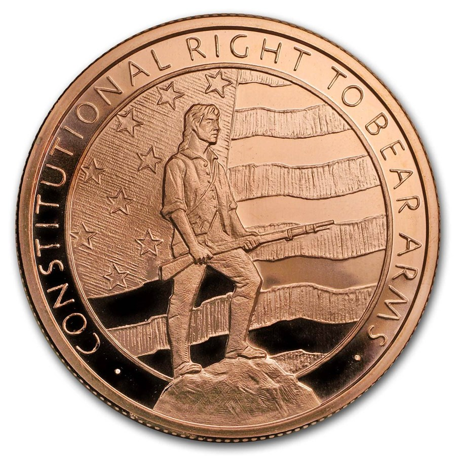 5 oz Copper Round - Second Amendment (Right to Bear Arms)