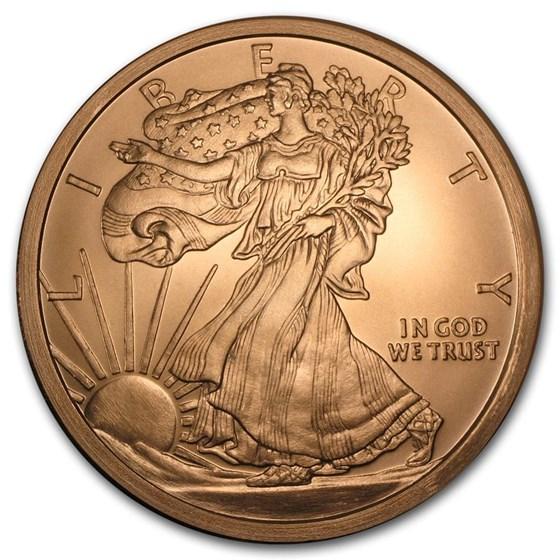5 oz Copper Round - Walking Liberty