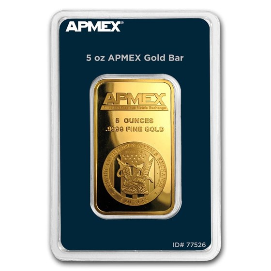 5 oz Gold Bar - APMEX (In TEP Package)