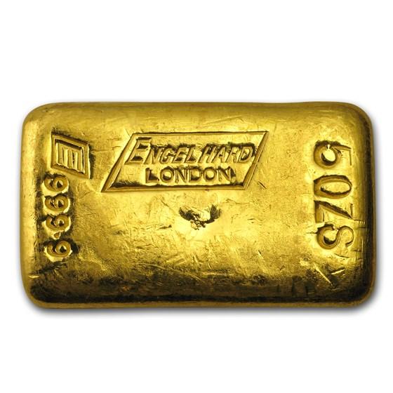 5 oz Gold Bar - Engelhard-London (Poured)