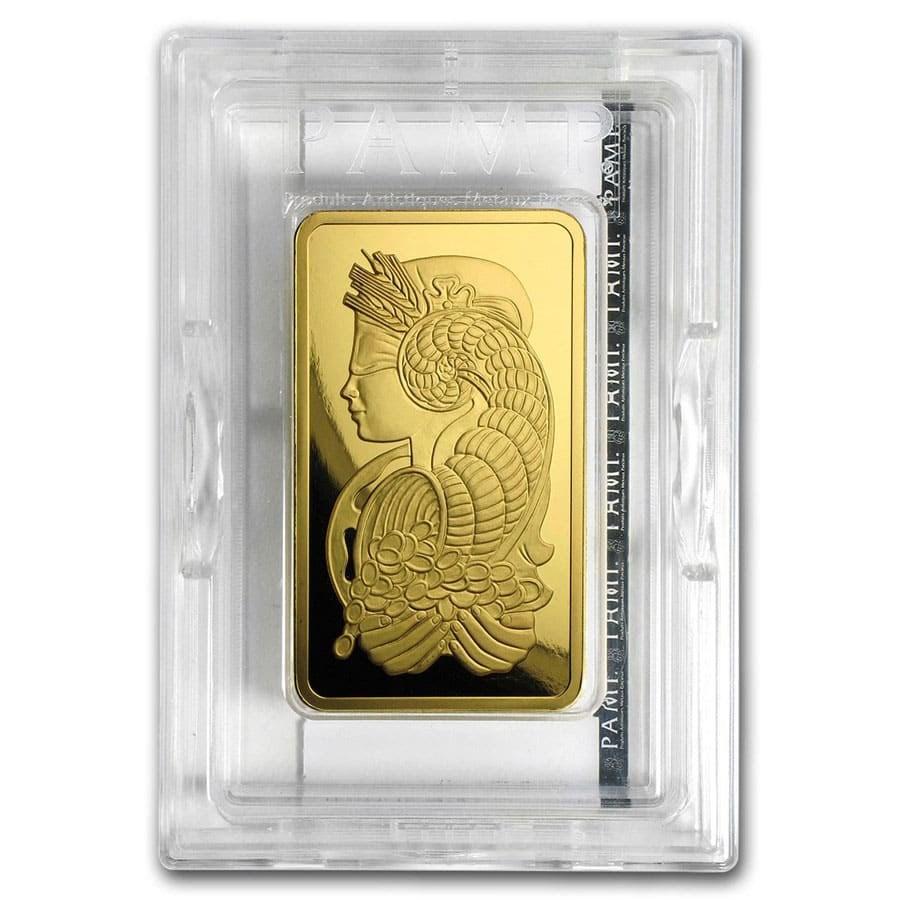 5 oz Gold Bar - PAMP Suisse Lady Fortuna Veriscan® (w/Assay)
