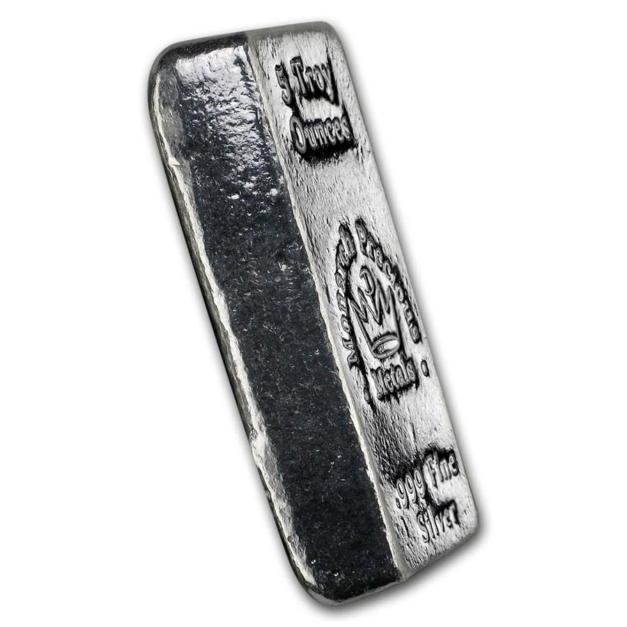 5 oz Hand Poured Silver Bar - MPM