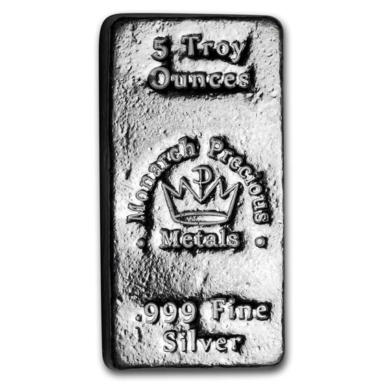 5 oz Hand Poured Silver Bar - MPM