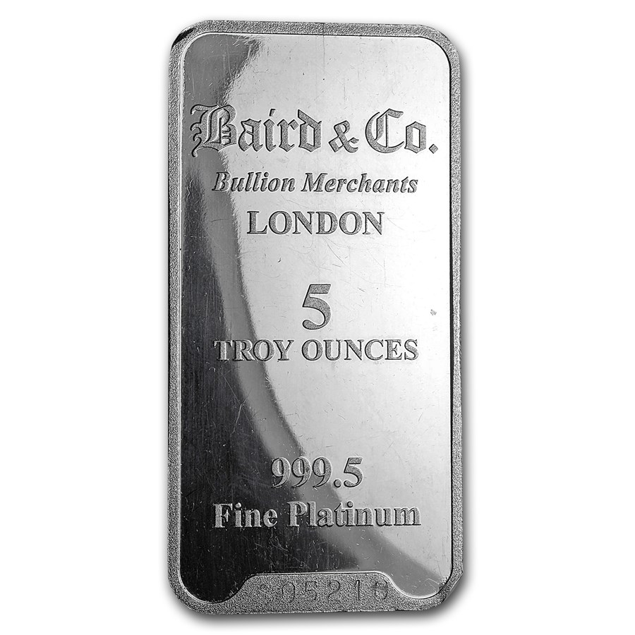 5 oz Platinum Bar - Secondary Market