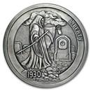 5 oz Silver Antique Round - Hobo Nickel (Graveyard Shift)