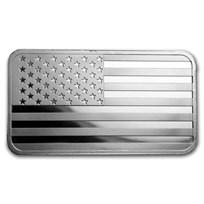 5 oz Silver Bar - American Flag Design