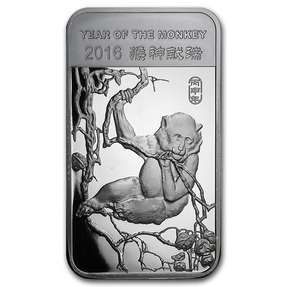 5 oz Silver Bar - APMEX (2016 Year of the Monkey)