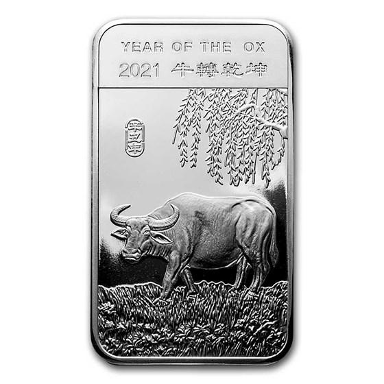 5 oz Silver Bar - APMEX (2021 Year of the Ox)