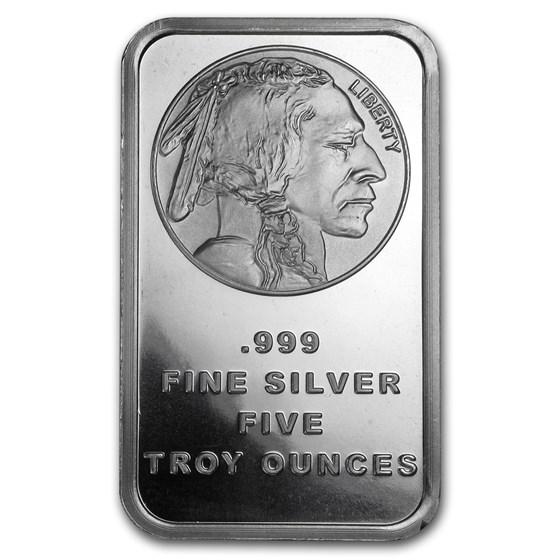 5 oz Silver Bar - Buffalo