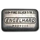 5 oz Silver Bar - Engelhard (Wide, Pressed)