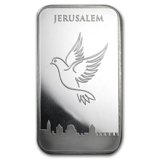 5 oz Silver Bar - Holy Land Mint (Dove of Peace)