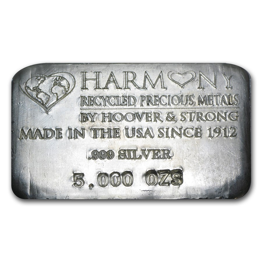 5 oz Silver Bar - Hoover & Strong