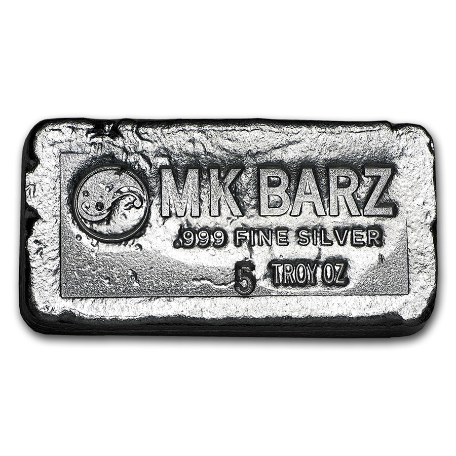 5 oz Silver Bar - MK Barz & Bullion