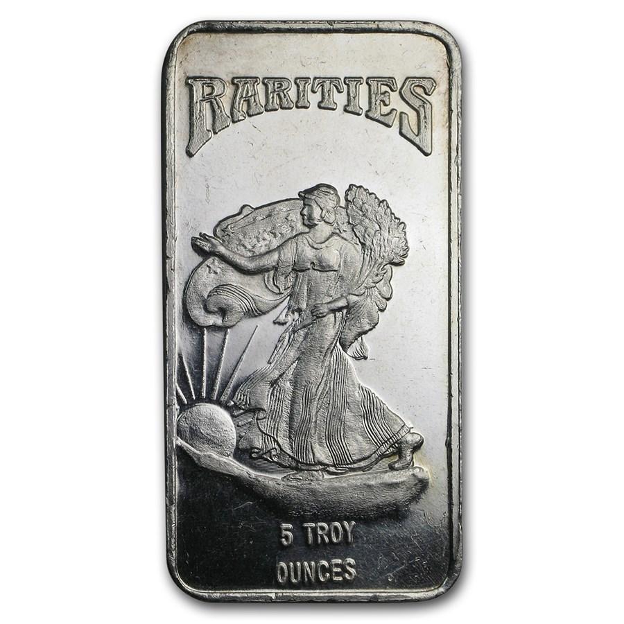 5 oz Silver Bar - Rarities Mint (Walking Liberty)