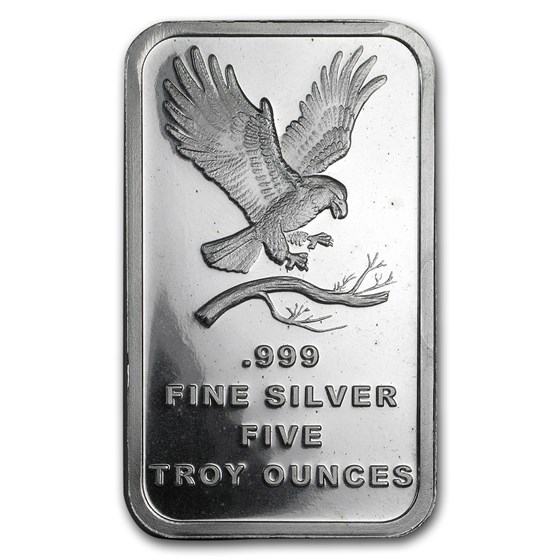 5 oz Silver Bar - SilverTowne Eagle