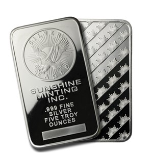 5 oz Silver Bar - Sunshine (Original)