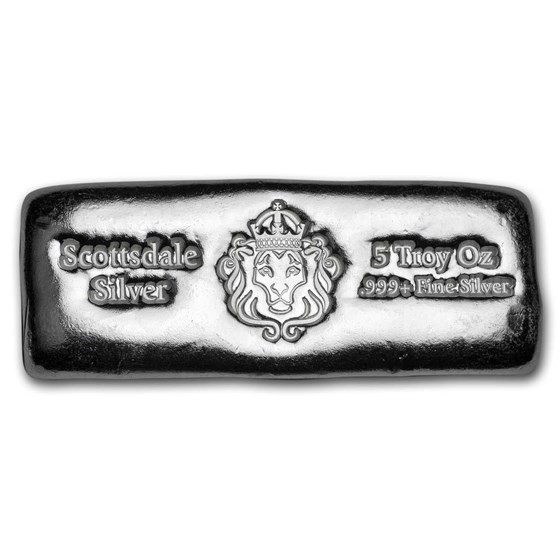 5 oz Silver Cast-Poured Bar - Scottsdale