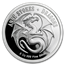 5 oz Silver Colorized Round - Anne Stokes Dragons: Water Dragon