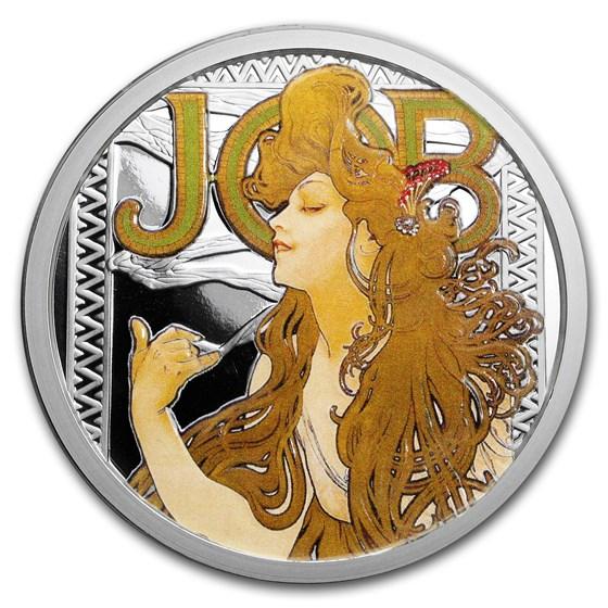 5 oz Silver Colorized Round - Mucha Series (JOB)