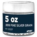 5 oz Silver Grain/Shot .999+ Fine